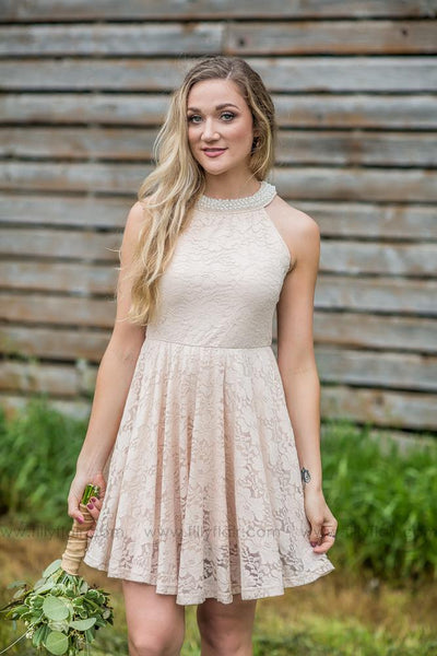 Sienna Dress In Light Beige - Filly Flair