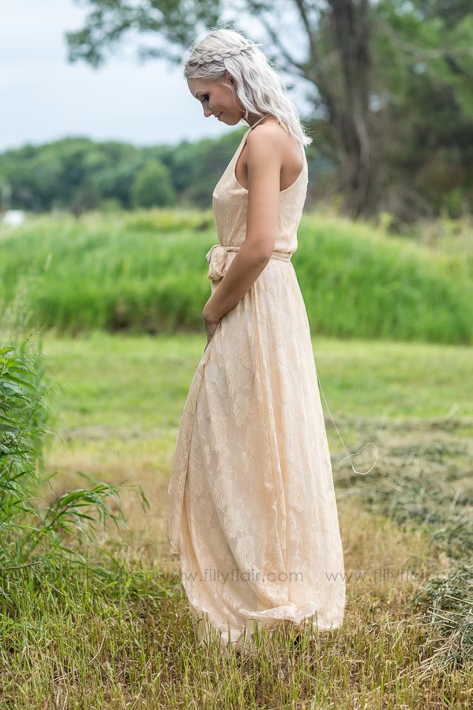 Juliette Bridesmaid Dress In Taupe - Filly Flair