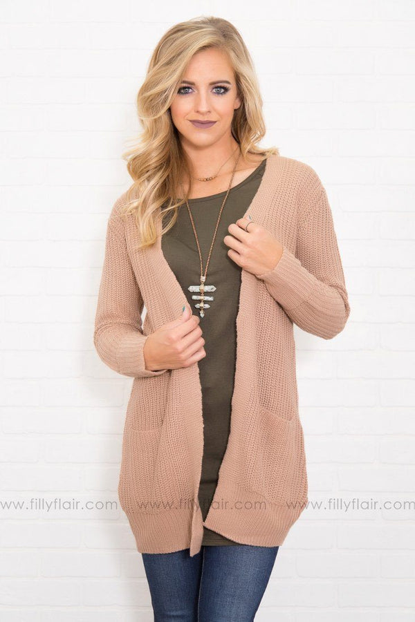 Warm and Cozy Taupe Knit Sweater