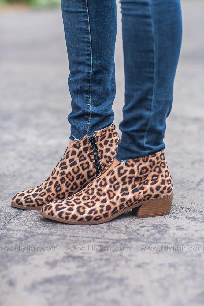 Somewhere You Feel Free Leopard Booties - Filly Flair