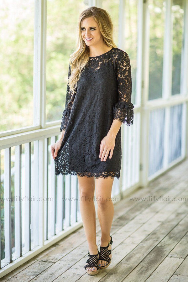 All In Black Lace Dress
