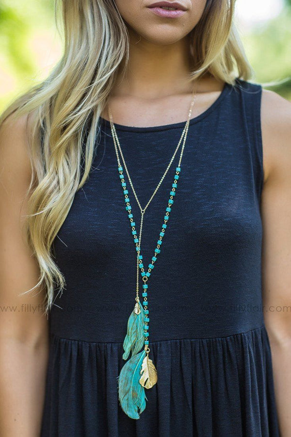 cute feather necklace