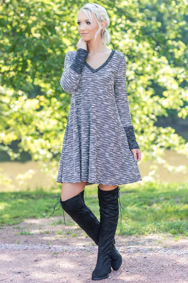 Heathered Love Long Sleeve Sweater Dress - Filly Flair