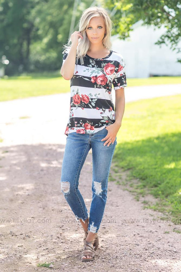 Blowing Smoke Floral Top