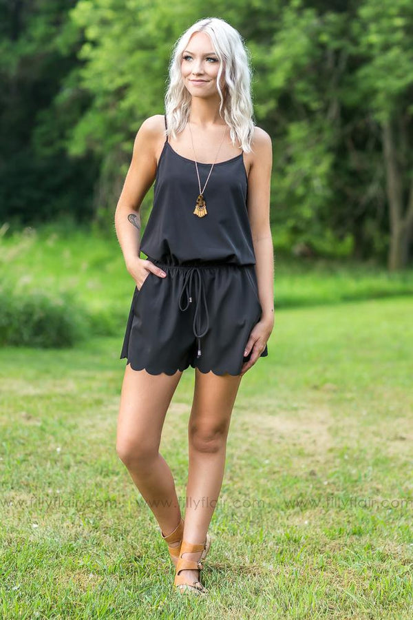 Everyday Girl Romper in Black - Filly Flair