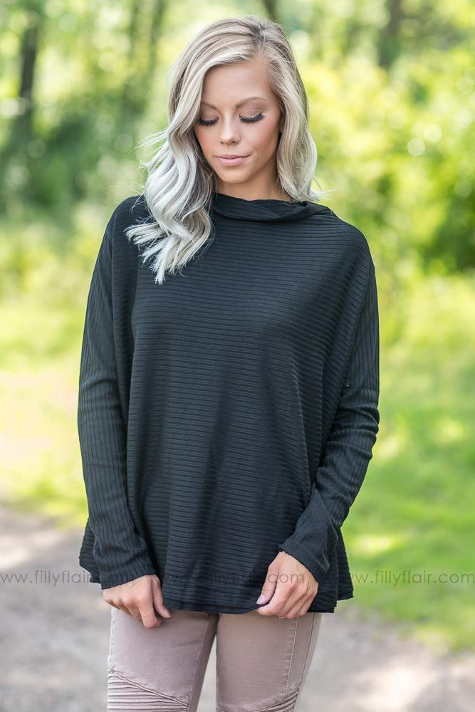 All Too Well Black Long Sleeve Top - Filly Flair