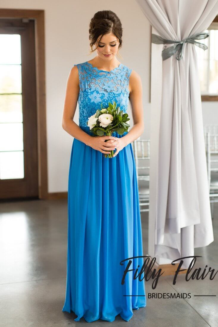 Ivy bridesmaid dress in blue ombrellifo Images