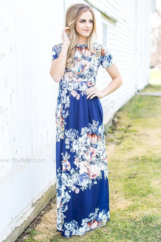 Wrapped in Love Floral Print Maxi Dress