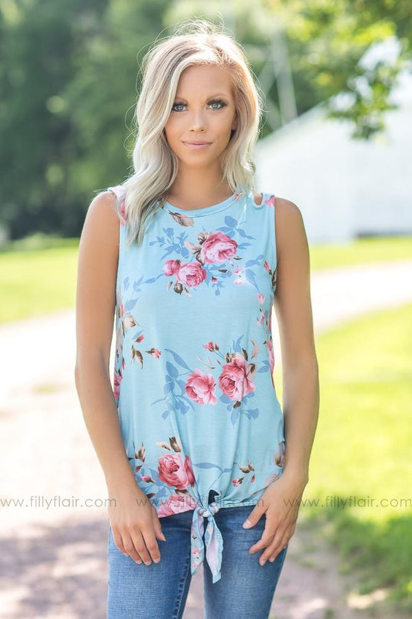 Blue Days Floral Printed Top