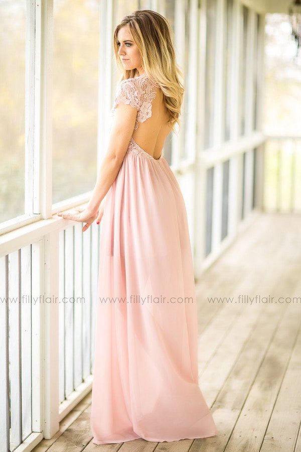 Nicole Bridesmaid Maxi Dress Blush