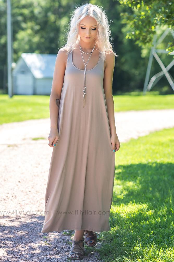 Boho Love Crochet Back Detail Maxi Dress - Filly Flair