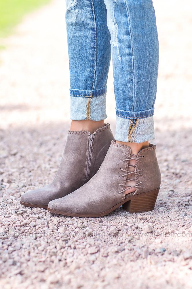Take Me Back Brown Detail Bootie - Filly Flair