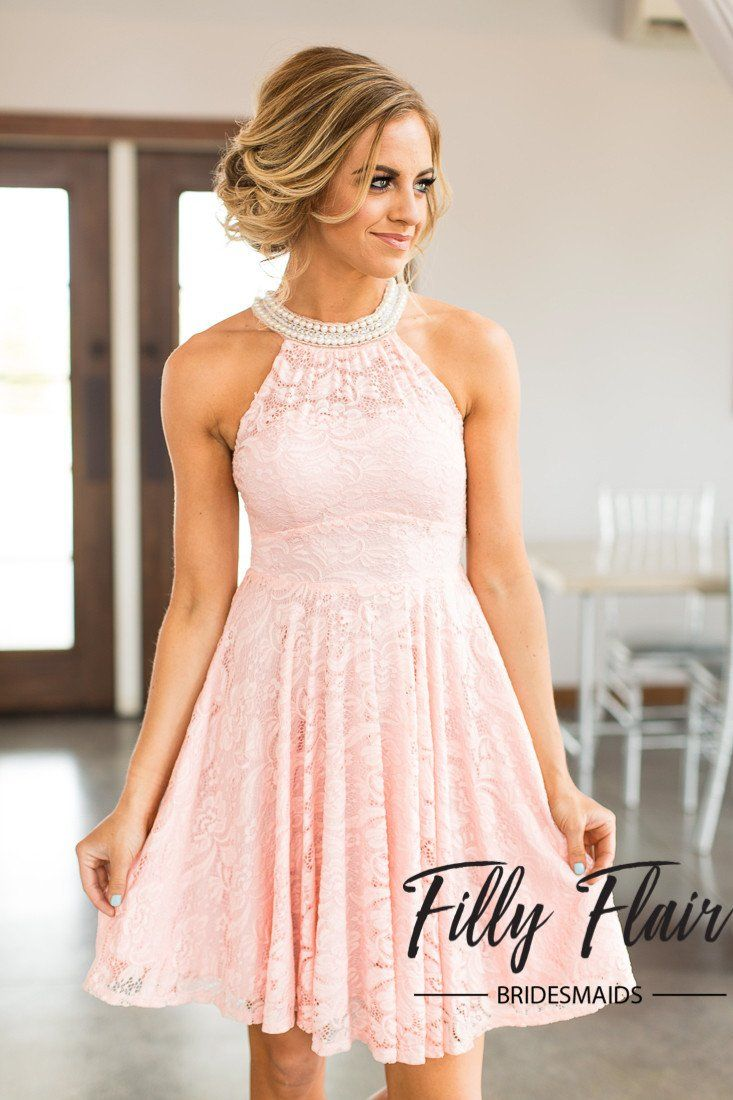 Sienna bridesmaid dress in blush filly flair sienna bridesmaid dress in blush pink lace bridesmaid dress ombrellifo Images