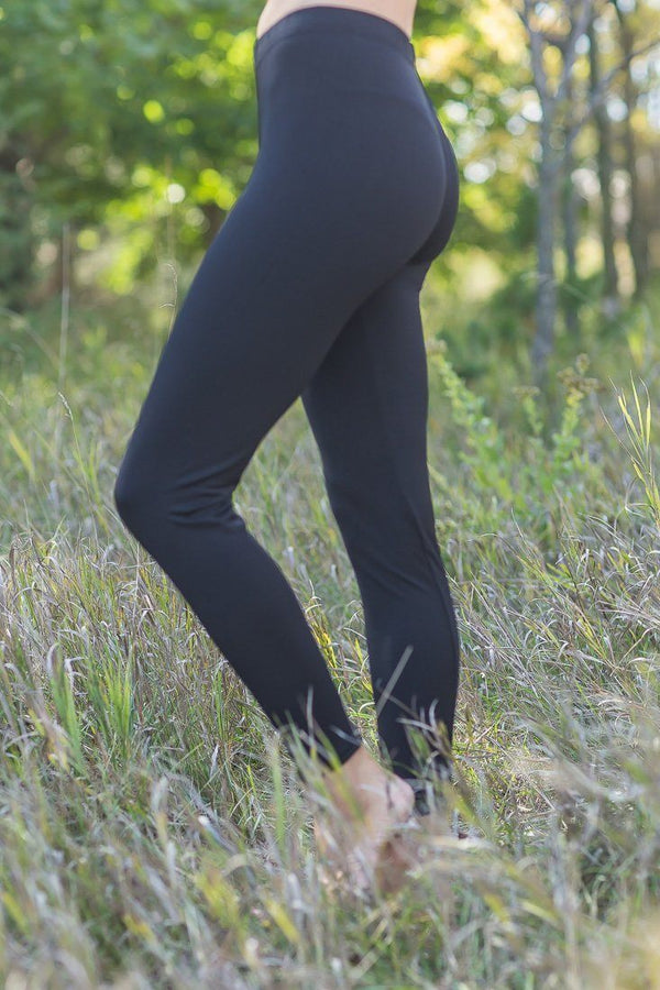 Here To Stay Black High Waisted Leggings