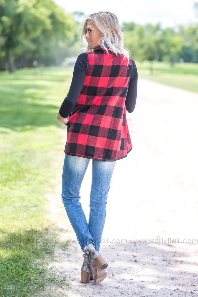 Waiting For You Buffalo Plaid Vest - Filly Flair