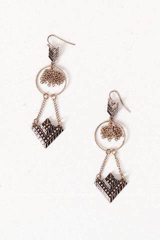 Antique Chevron Earrings