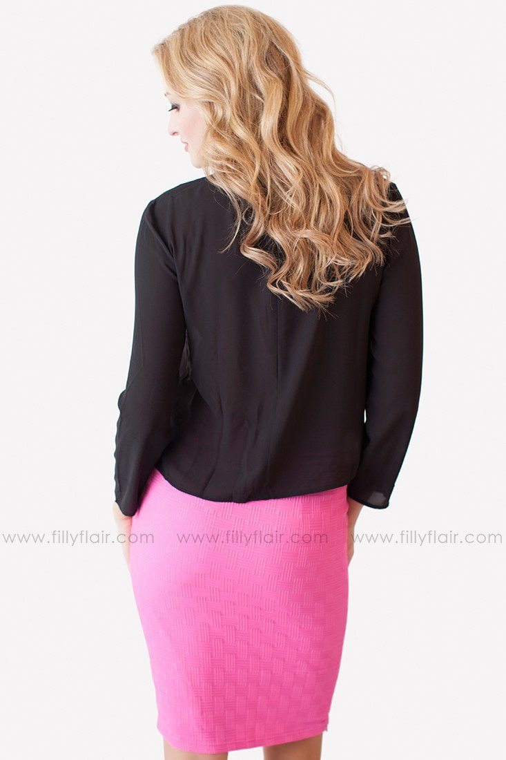 Dazzle Them Blouse in Black