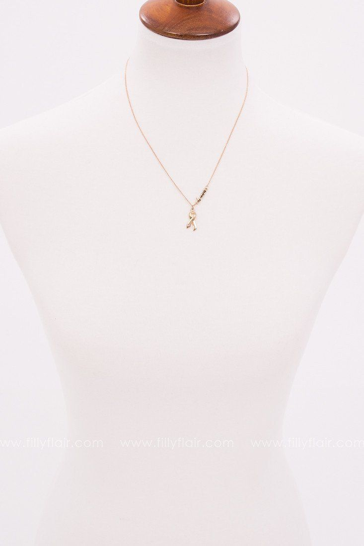 Stay Strong Necklace in Gold