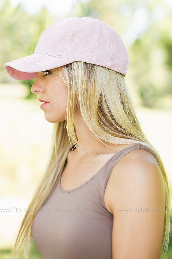 Take Me Out Suede Hat in Rose