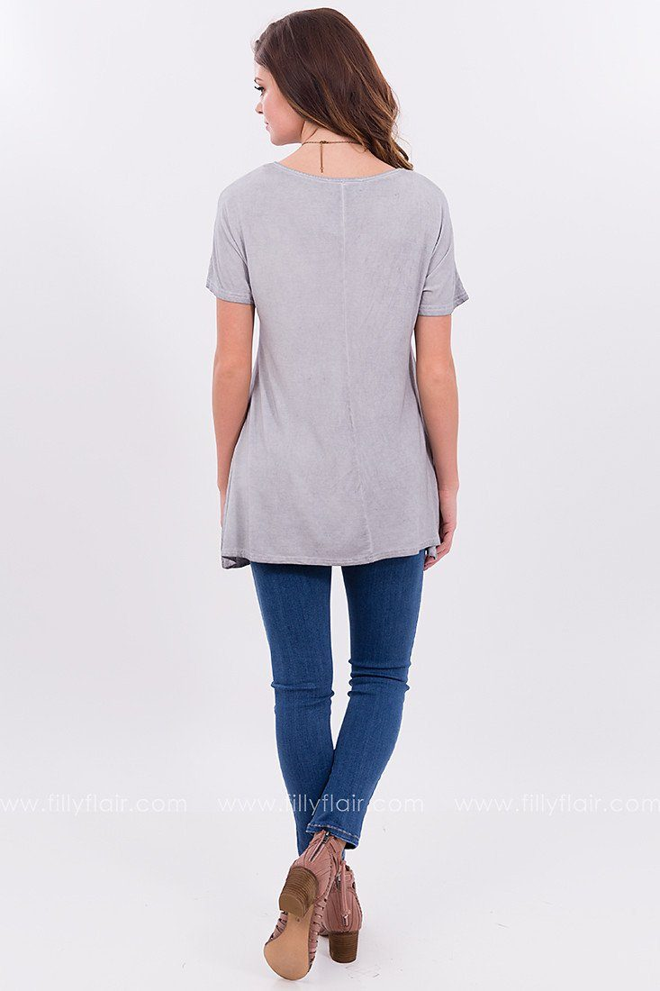 On The Daily Vintage Washed Tee in Grey