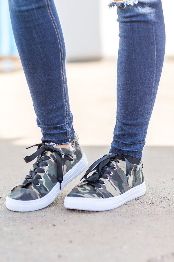 camouflage printed sneakers