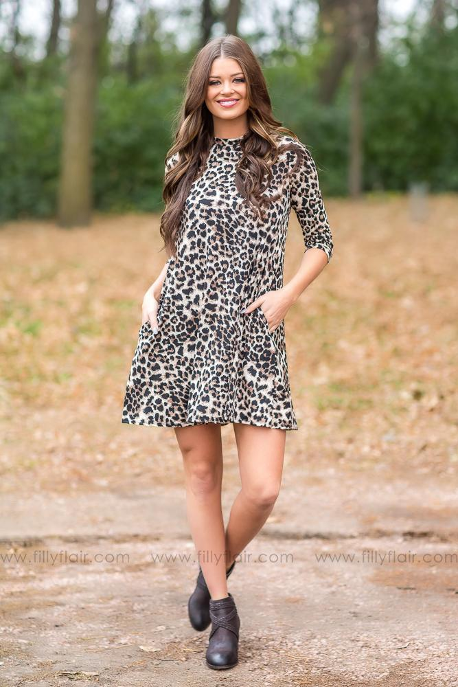 Only In Time Cheetah Print Dress - Filly Flair