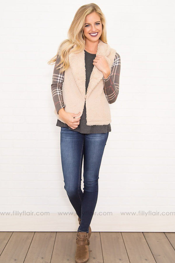 Northern Sights Fur Vest in Beige