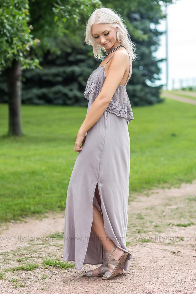 New Day Lace Top Maxi Dress - Filly Flair