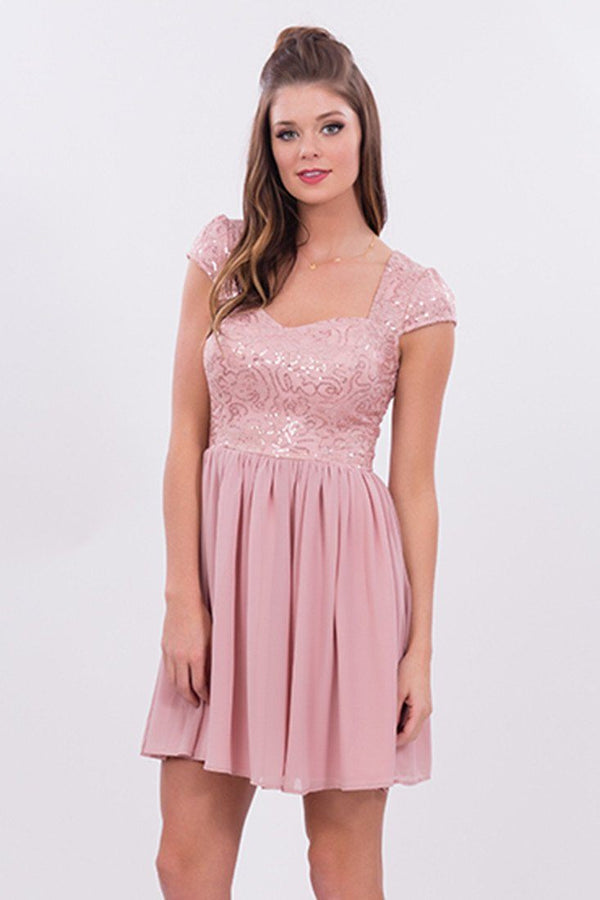 Dance the Night Away Dress in Dusty Rose