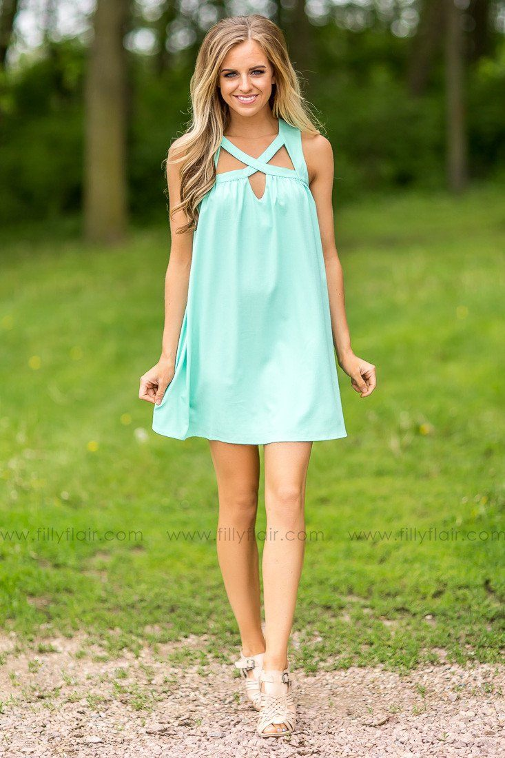 Criss Cross Mint Love Dress