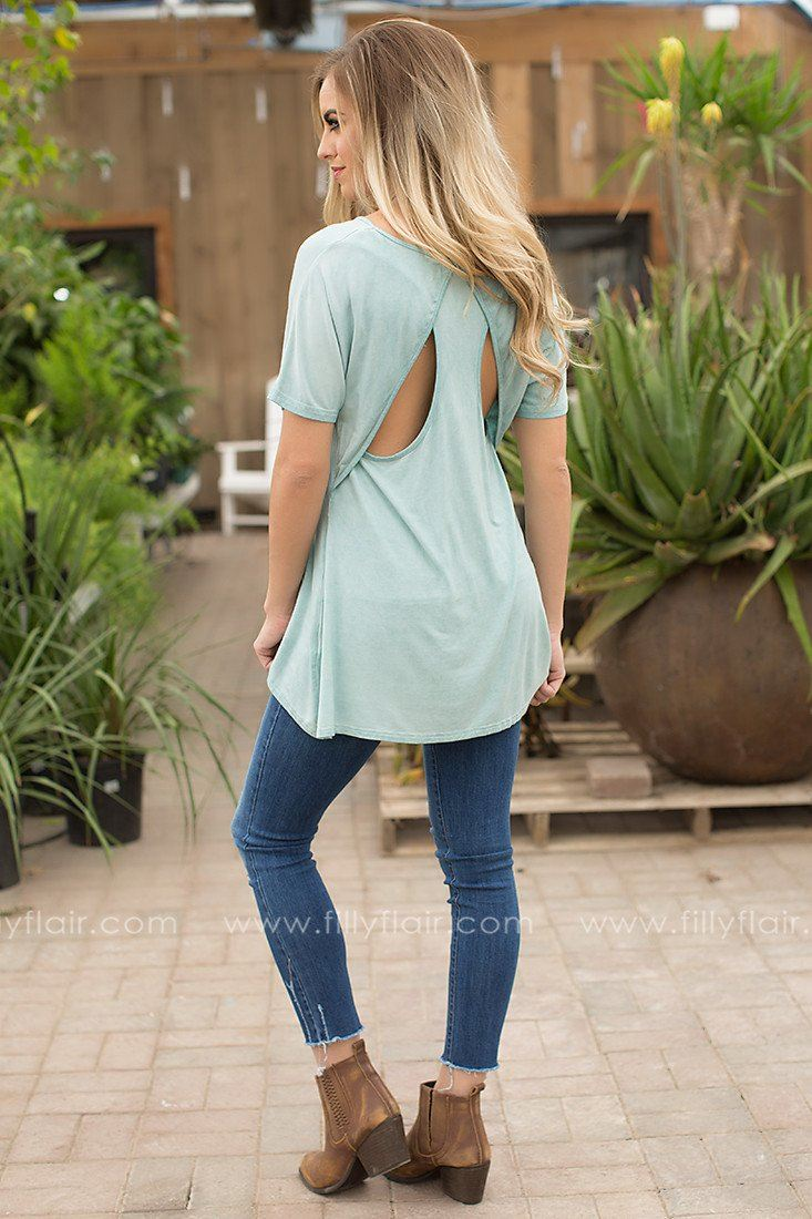 open back top in mint