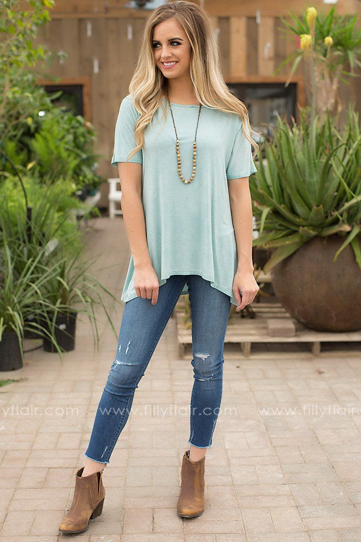 cut out tee in mint