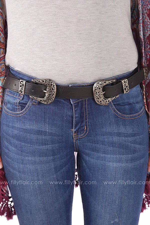 Fetching Filigree Belt in Black