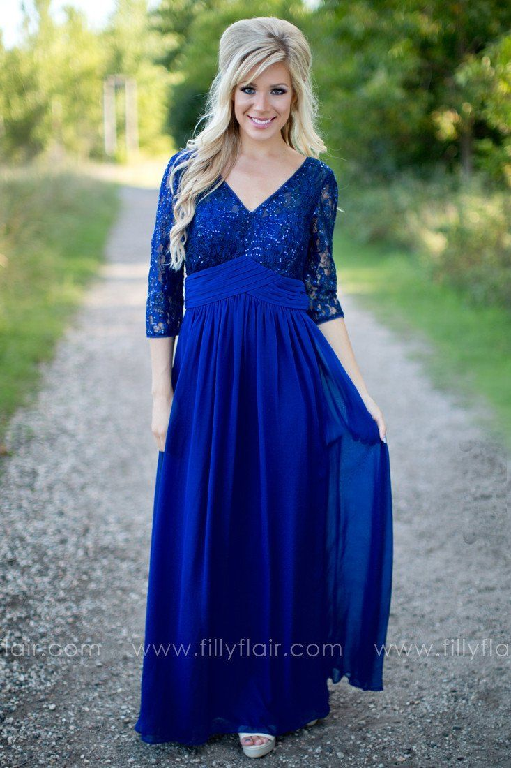 Hello Darling Bridesmaid Dress in Indigo