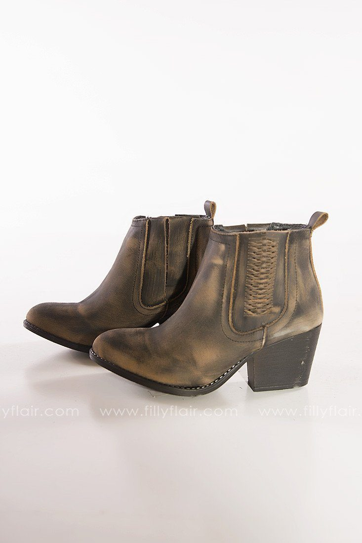 Walk this Way Leather Booties - Filly Flair