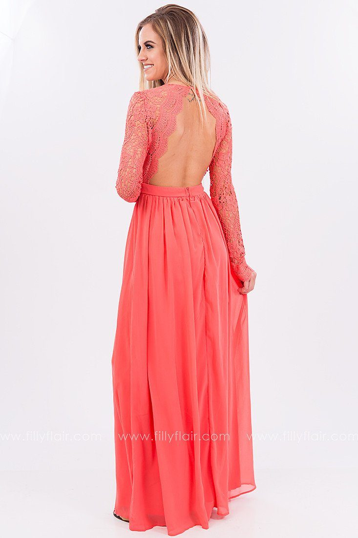 Meet Me at Midnight Lace Maxi Dress - Filly Flair