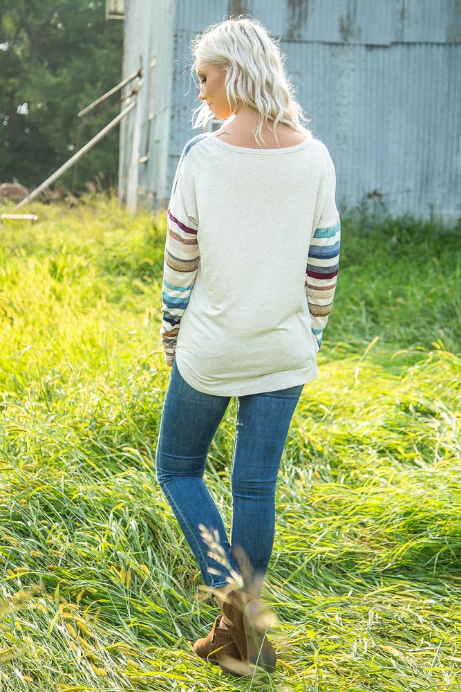 Striped Days Dolman Top - Filly Flair