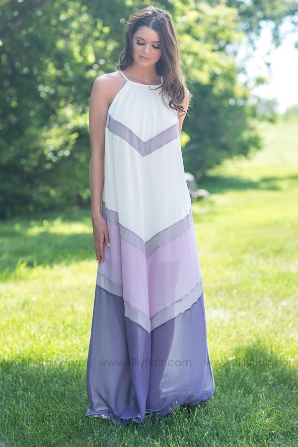 Skies Are Blue Sleeveless Maxi Dress In Plum - Filly Flair
