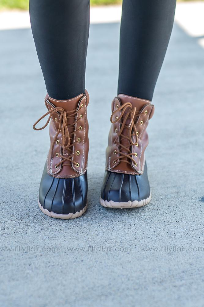 Fall Nights Brown Duck Boots - Filly Flair