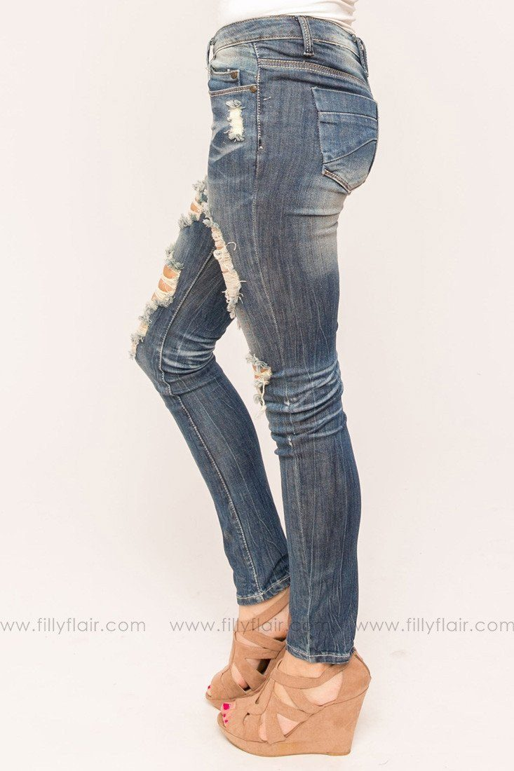 Step to It Antique Distressed Jeans