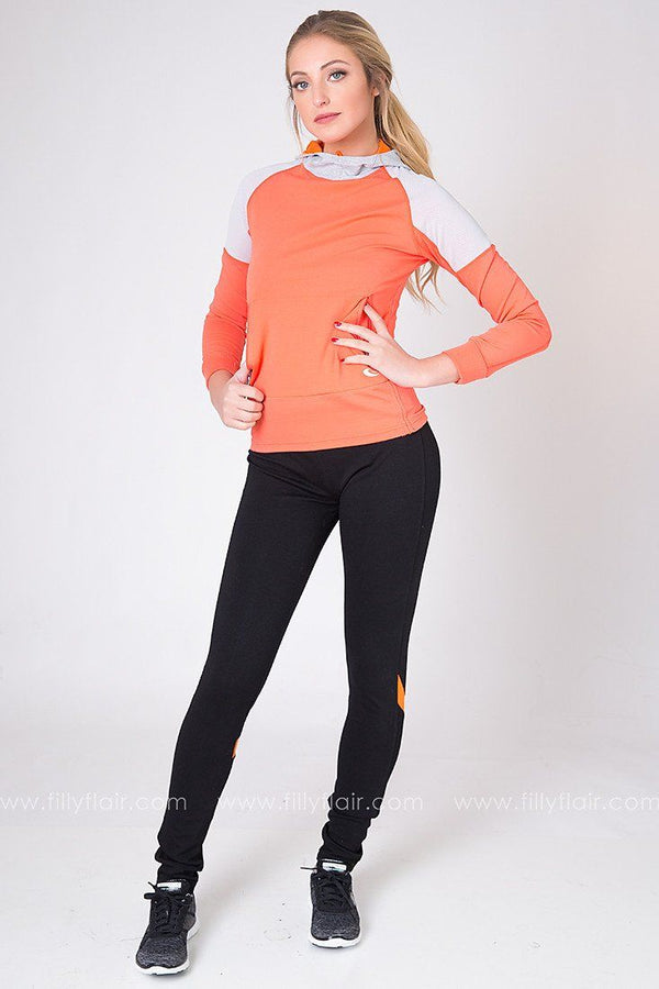 Home Stretch Leggings with Coral
