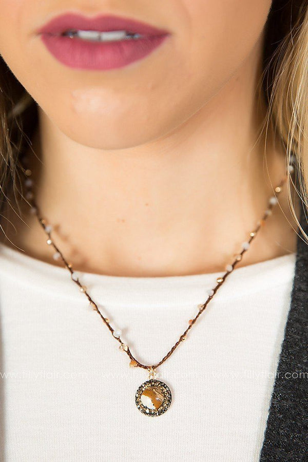 Touch of Grace Necklace in Brown