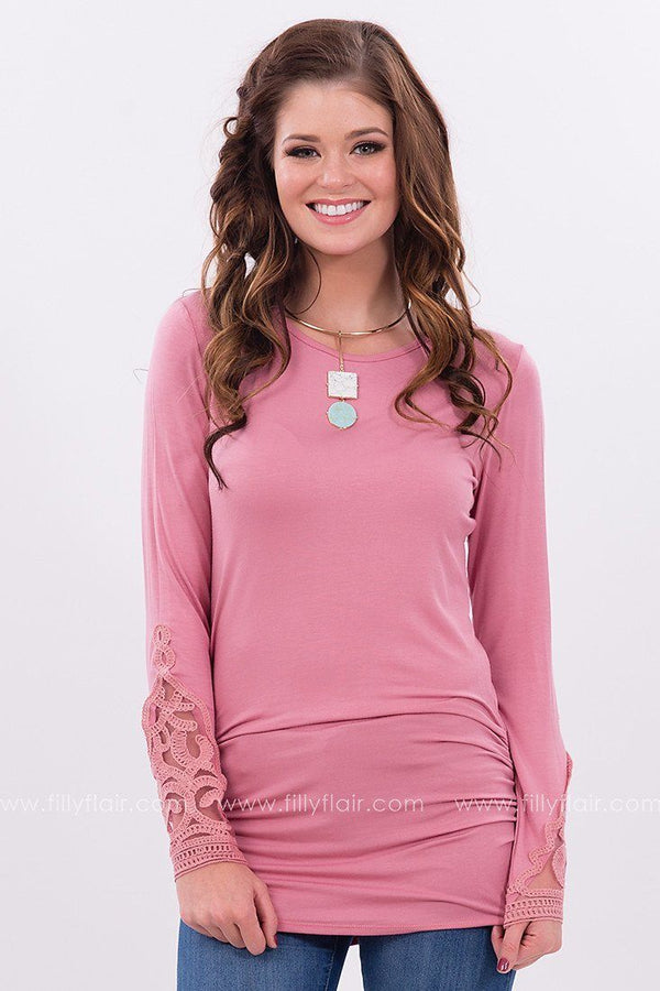 Soft Melodies Tunic in Dusty Rose