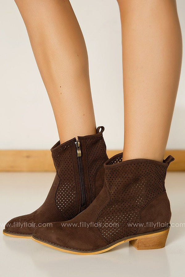 Miracle Mile Breech Bootie in Coffee