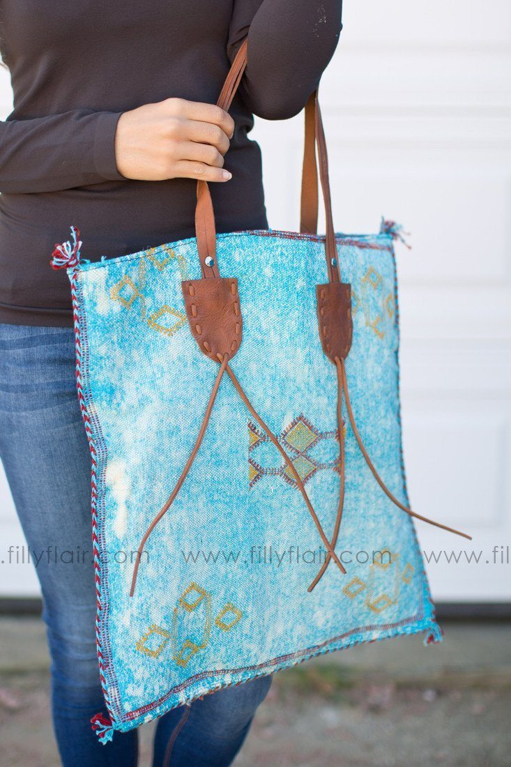 The One Bag in Aqua Blue