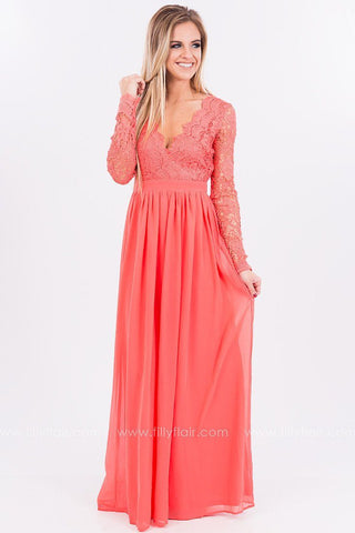 Meet Me at Midnight Lace Maxi Dress