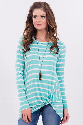 Sail Away Striped Knot Top