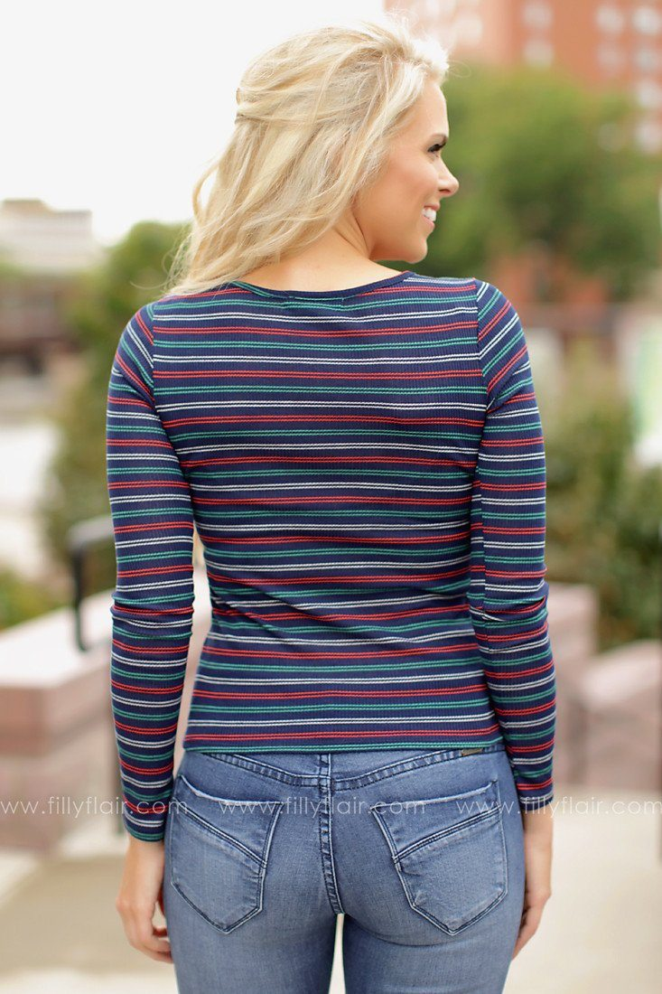 Must Be Love Striped Top