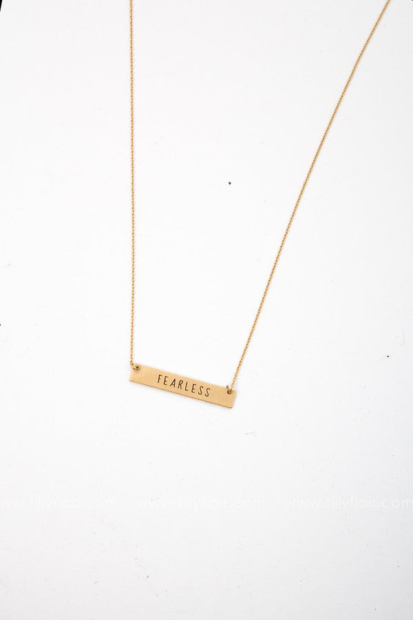 Fearless Engraved Necklace