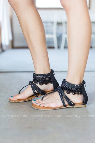 Not Rated Black  Sequin Bushey Sandal
